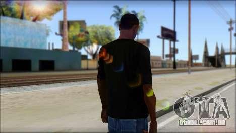 SkullTie T-Shirt para GTA San Andreas segunda tela
