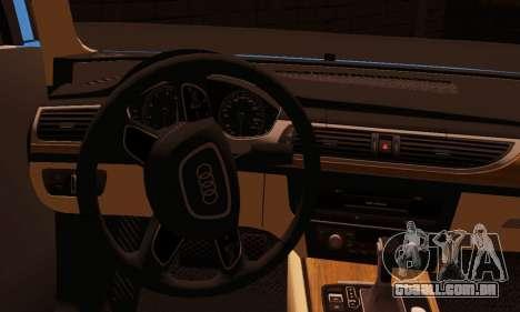 Audi S6 Avant 2014 para GTA San Andreas traseira esquerda vista