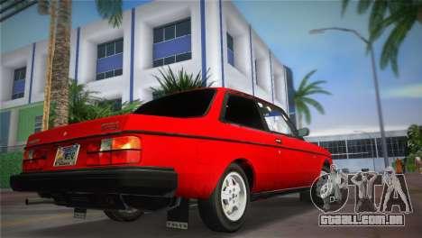 Volvo 242 Turbo Evolution para GTA Vice City deixou vista