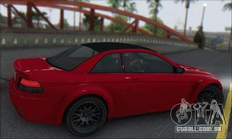 A superioridade Sentinela XS para GTA San Andreas vista traseira
