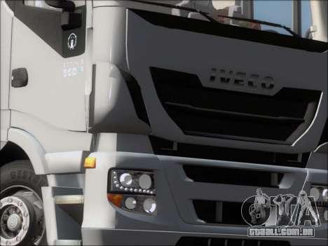 Iveco Stralis HiWay 560 E6 6x4 para GTA San Andreas interior
