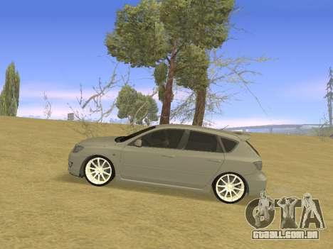 Mazda 3 v2 para GTA San Andreas esquerda vista