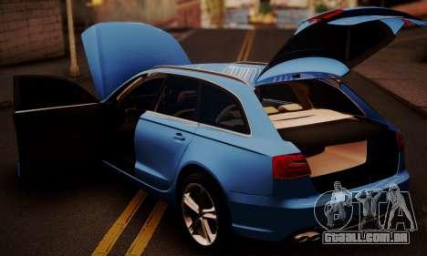 Audi S6 Avant 2014 para GTA San Andreas vista traseira