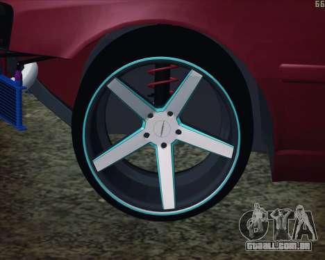 Toyota Chaser Tourer V korch para GTA San Andreas vista direita