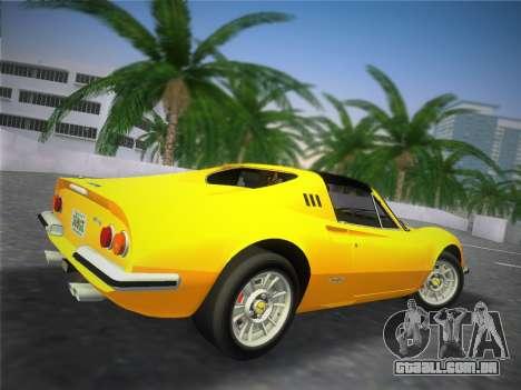 Ferrari 246 Dino GTS 1972 para GTA Vice City vista traseira