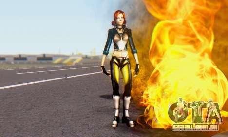 Jessica para GTA San Andreas terceira tela
