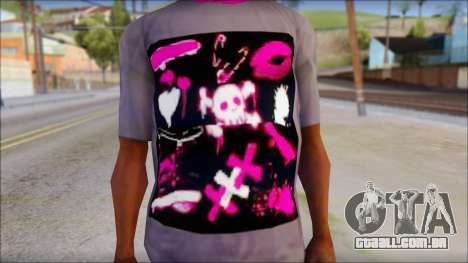 Emo T-Shirt para GTA San Andreas terceira tela