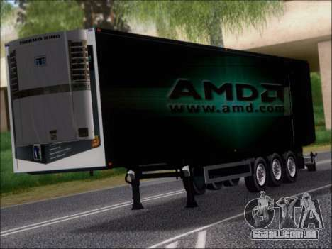 Trailer AMD Phenom X4 para GTA San Andreas esquerda vista