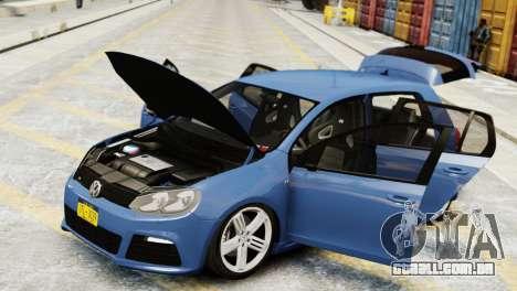 Volkswagen Golf R 2010 para GTA 4 vista direita