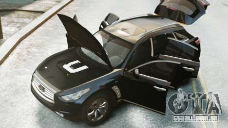 Infiniti FX50S v1.0 para GTA 4 traseira esquerda vista