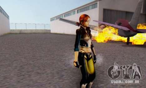 Jessica para GTA San Andreas por diante tela