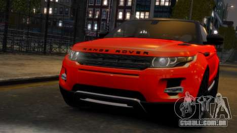 Land Rover Range Rover Evoque para GTA 4 traseira esquerda vista