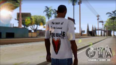 Papa Roach The Best Of To Be Loved Fan T-Shirt para GTA San Andreas segunda tela
