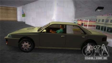 Sultan from GTA San Andreas para GTA Vice City vista traseira esquerda