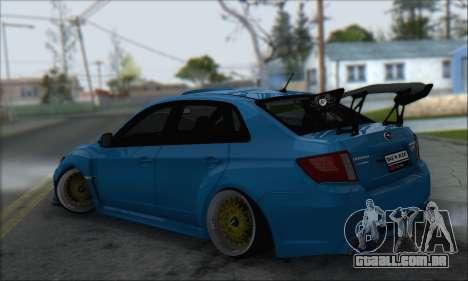 Subaru Impreza WRX STI 2010 para GTA San Andreas vista traseira