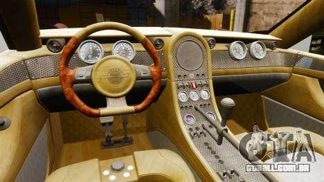 Spyker D8 para GTA 4 vista de volta