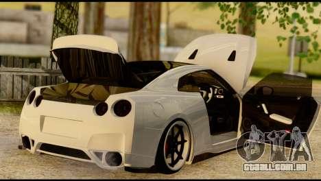 Nissan GT-R V2.0 para GTA San Andreas vista interior
