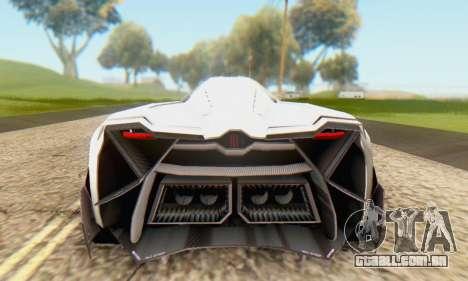 Lamborghini Egoista Concept 2013 para GTA San Andreas vista direita