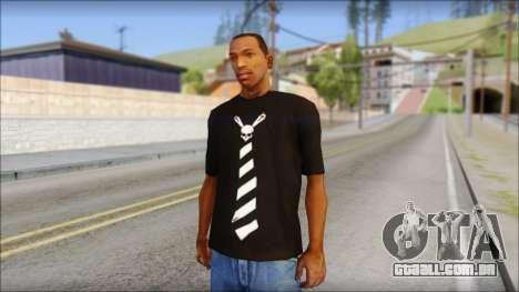 SkullTie T-Shirt para GTA San Andreas