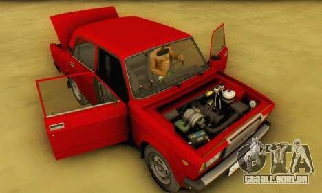 VAZ 2107 Estoque para GTA San Andreas vista interior