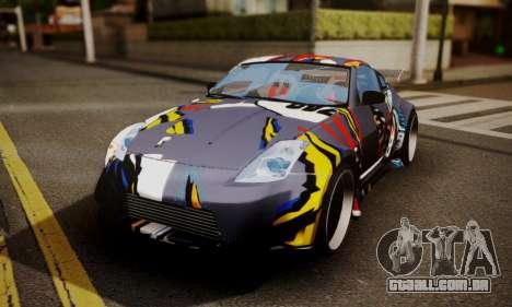 Nissan 350z Angel Beast Itasha Edition para vista lateral GTA San Andreas