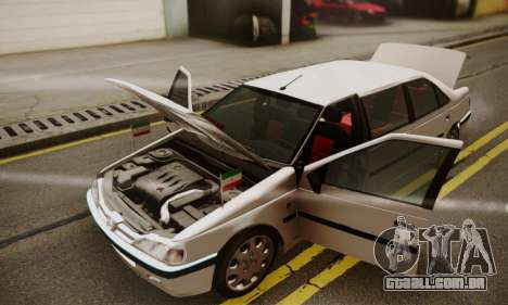 Peugeot Pars Limouzine para GTA San Andreas vista superior