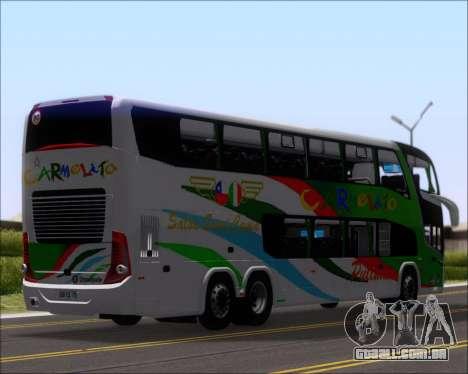 Marcopolo Paradiso G7 1800 DD 6x2 Scania K420 para GTA San Andreas vista traseira