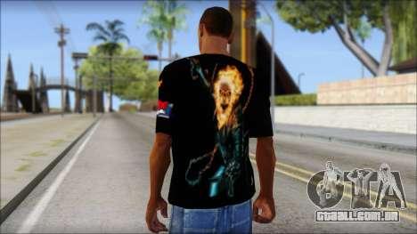 Ghost Rider T-Shirt para GTA San Andreas segunda tela