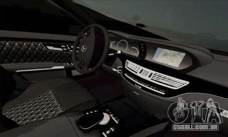 Mercedes-Benz S600 W221 2012 para GTA San Andreas traseira esquerda vista