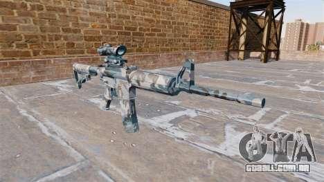 Automático carabina MA neve Derretida Camo para GTA 4