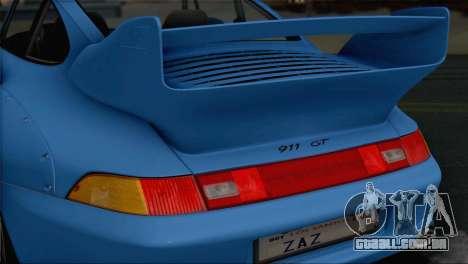 Porsche 911 GT2 (993) 1995 V1.0 SA Plate para GTA San Andreas vista inferior