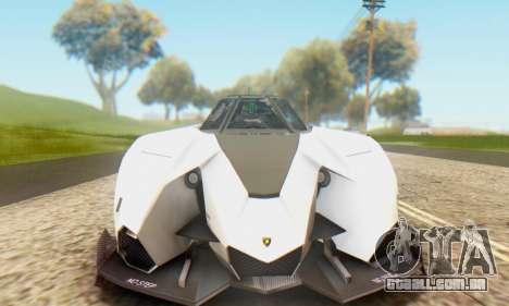 Lamborghini Egoista Concept 2013 para GTA San Andreas traseira esquerda vista