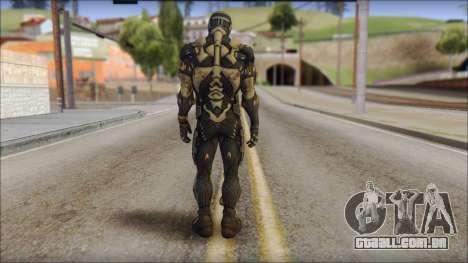 NanoSuit Skin para GTA San Andreas segunda tela