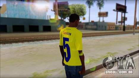 T-Shirt Colombia para GTA San Andreas segunda tela