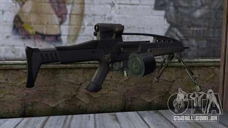 XM8 LMG Black para GTA San Andreas segunda tela