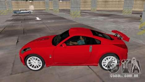 Nissan 350z Tuned para GTA Vice City vista traseira esquerda