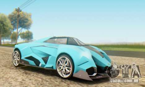 Lamborghini Egoista Concept 2013 para GTA San Andreas esquerda vista
