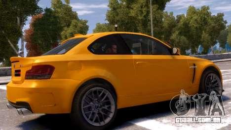 BMW 1M para GTA 4 traseira esquerda vista