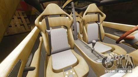 Spyker D8 para GTA 4 vista interior