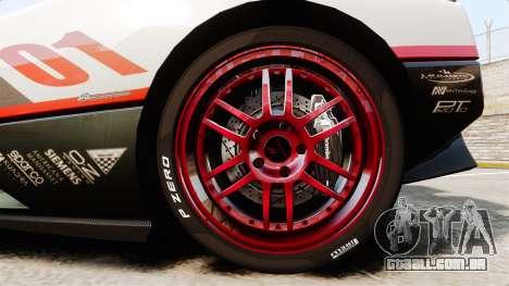 Pagani Zonda C12S Roadster 2001 v1.1 PJ4 para GTA 4 vista de volta