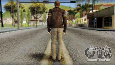 Leon Kennedy from Resident Evil 6 v4 para GTA San Andreas segunda tela