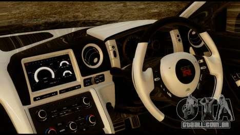 Nissan GT-R V2.0 para GTA San Andreas traseira esquerda vista
