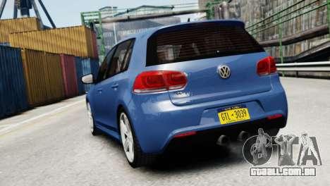 Volkswagen Golf R 2010 para GTA 4 traseira esquerda vista