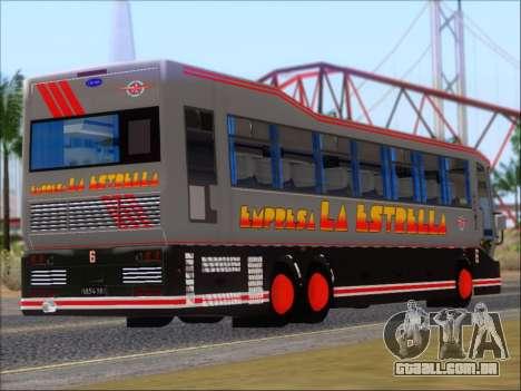 San Antonio Augusto - Empresa La Estrella para GTA San Andreas traseira esquerda vista