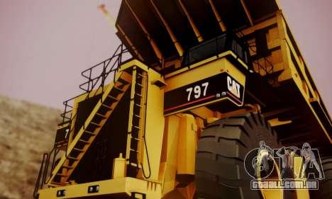 Caterpillar 797 para GTA San Andreas vista direita