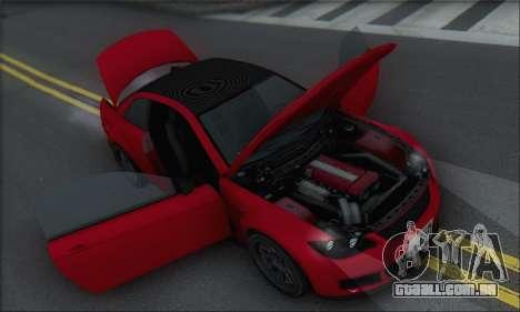 A superioridade Sentinela XS para as rodas de GTA San Andreas