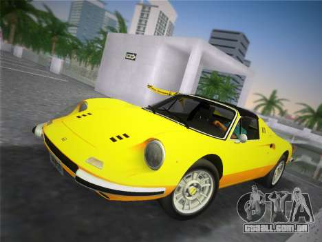 Ferrari 246 Dino GTS 1972 para GTA Vice City vista direita