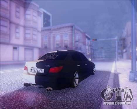 BMW M5 E60 para vista lateral GTA San Andreas