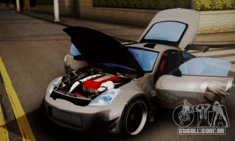 Nissan 350z Angel Beast Itasha Edition para GTA San Andreas traseira esquerda vista