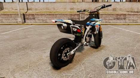 Yamaha YZF-450 v1.9 para GTA 4 traseira esquerda vista